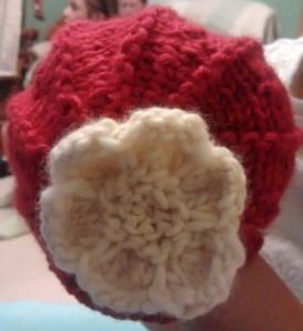 flower beanie for a newborn